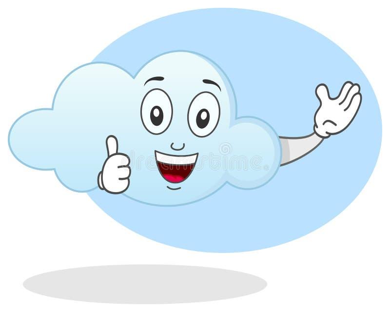 Carácter sonriente de la nube