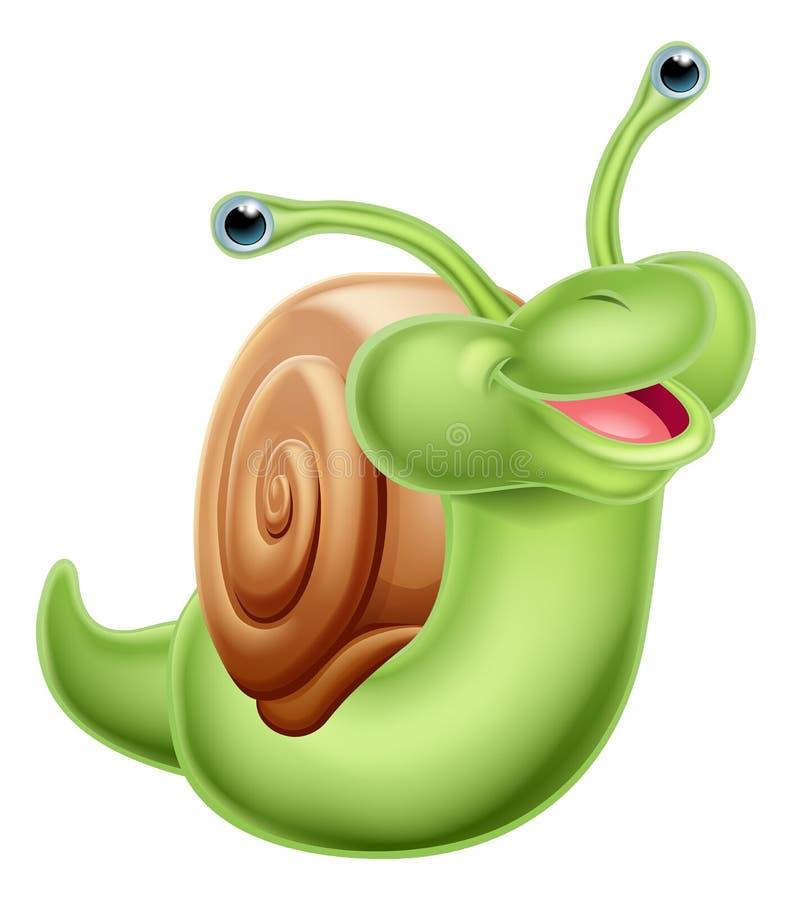 Un caracol verde feliz libre illustration
