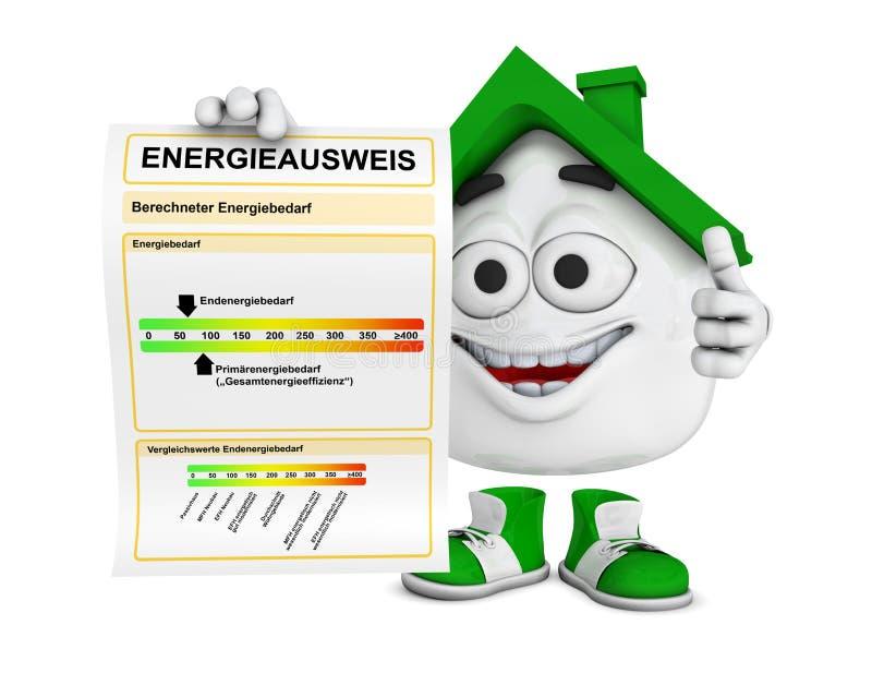 Chambre avec le label d'utilisation d'énergie   illustration stock