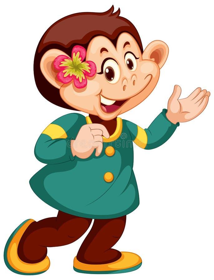 Un caractère mignon de singe illustration stock