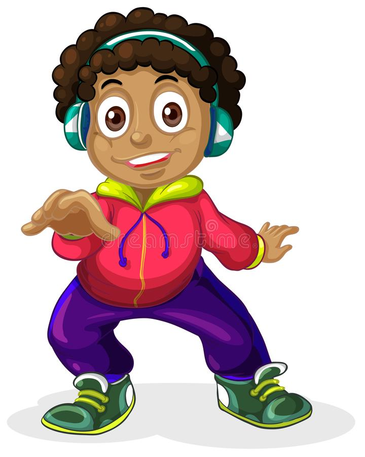 Un carattere africano americano dei bambini illustrazione di stock