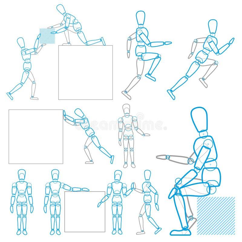 Un carattere nell'azione illustrazione vettoriale