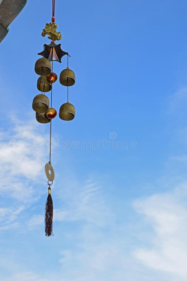 Un carillon de vent images stock