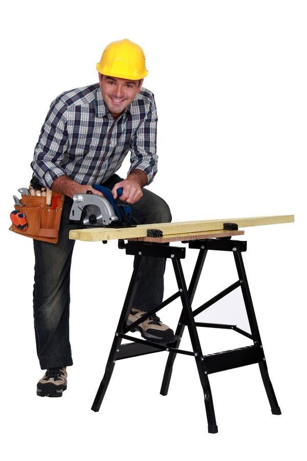 Un carpintero maduro imagen de archivo libre de regalías