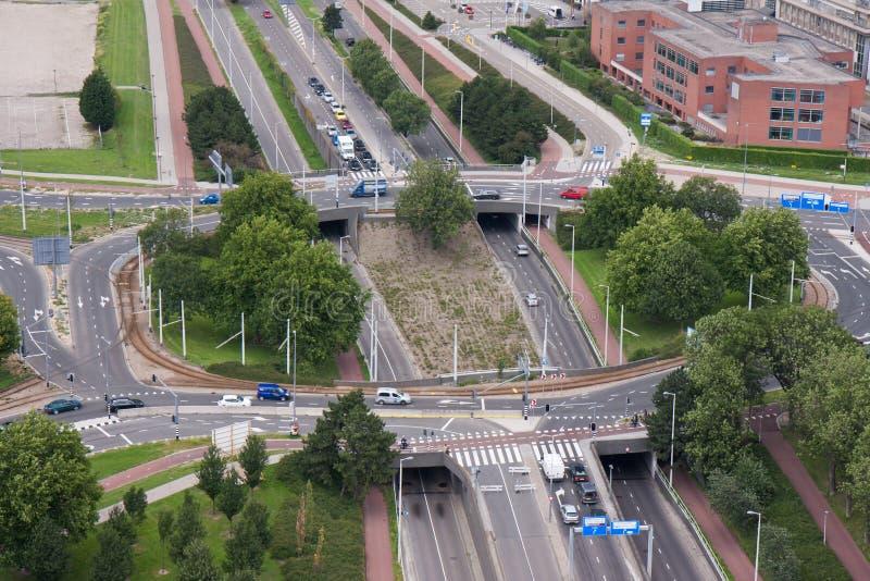 Un carrefour giratoire en Hollandes photos stock