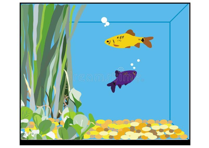 Un carro armato di pesce illustrazione vettoriale