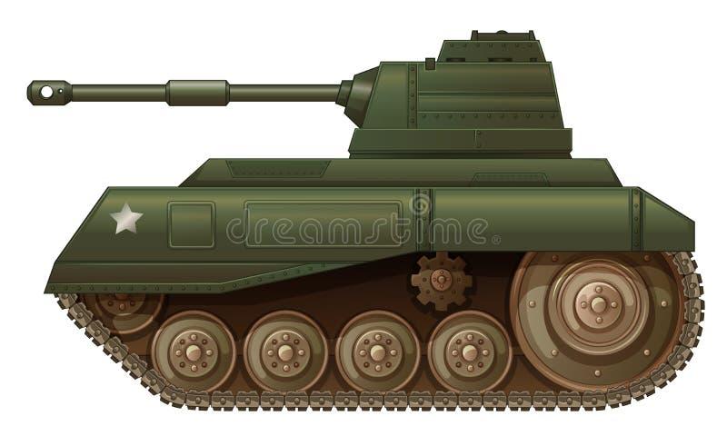 Un carro armato militare verde illustrazione vettoriale