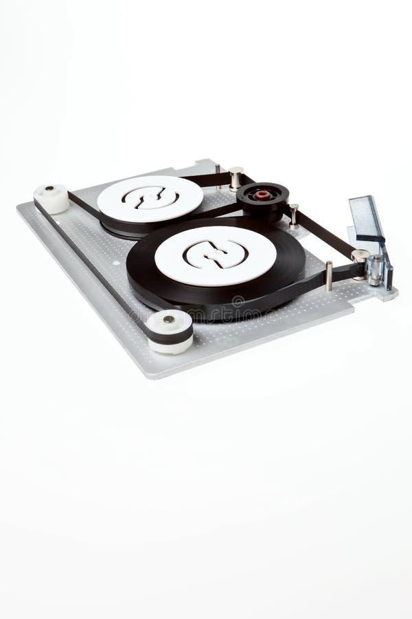 Un cartucho de datos del bobinador de cintas en modo continuo. foto de archivo libre de regalías