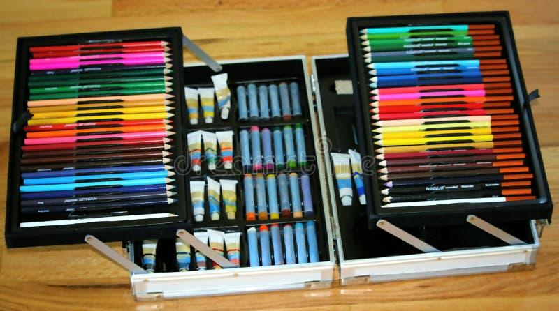 Un cas de collection de couleur photographie stock libre de droits