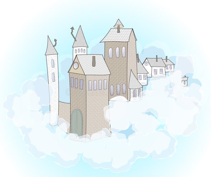 Un castello nel cielo illustrazione di stock