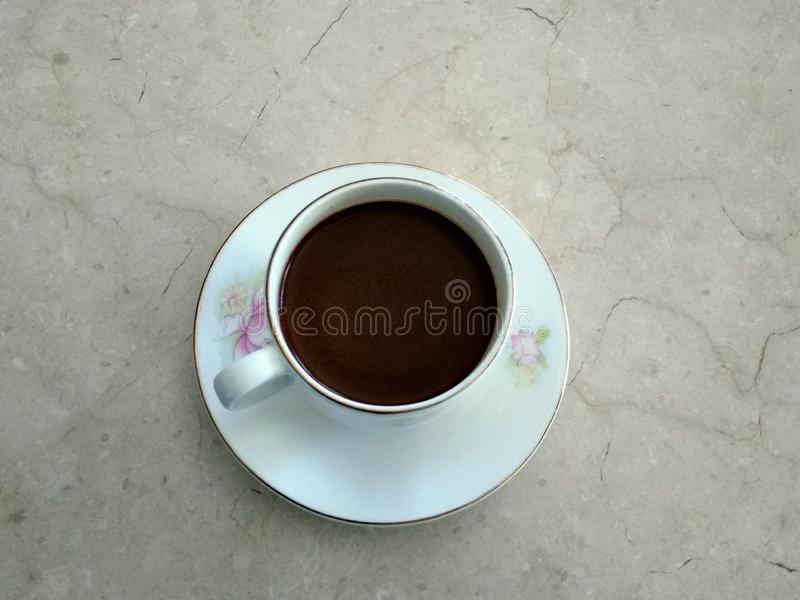 Un cattivo etico di caffè nero fotografia stock