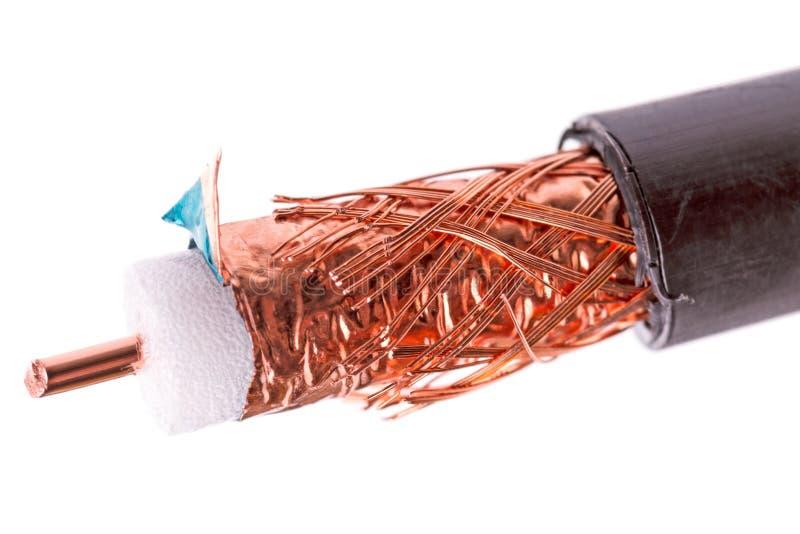 un cavo coassiale da 50 ohm immagine stock libera da diritti
