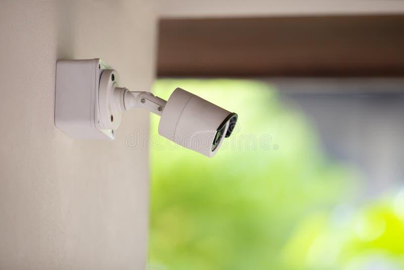 Un CCTV dell'interno bianco per la casa di sicurezza immagini stock libere da diritti