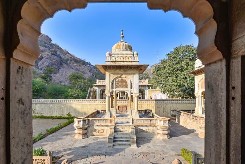 Un cenotafio, Gaitor real, Jaipur, Rajasthán imagen de archivo libre de regalías