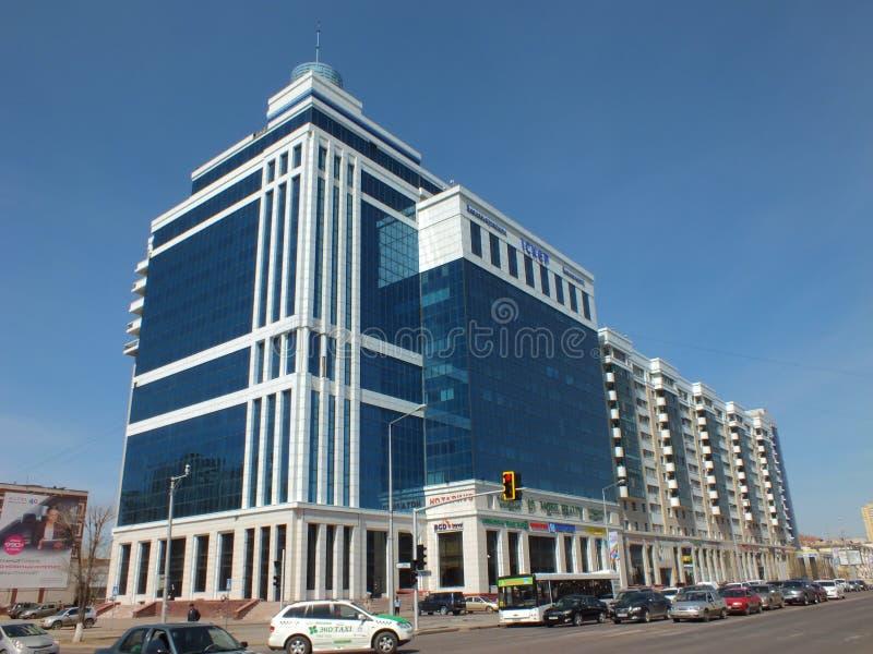 Un centre moderne d'affaires à Astana image libre de droits
