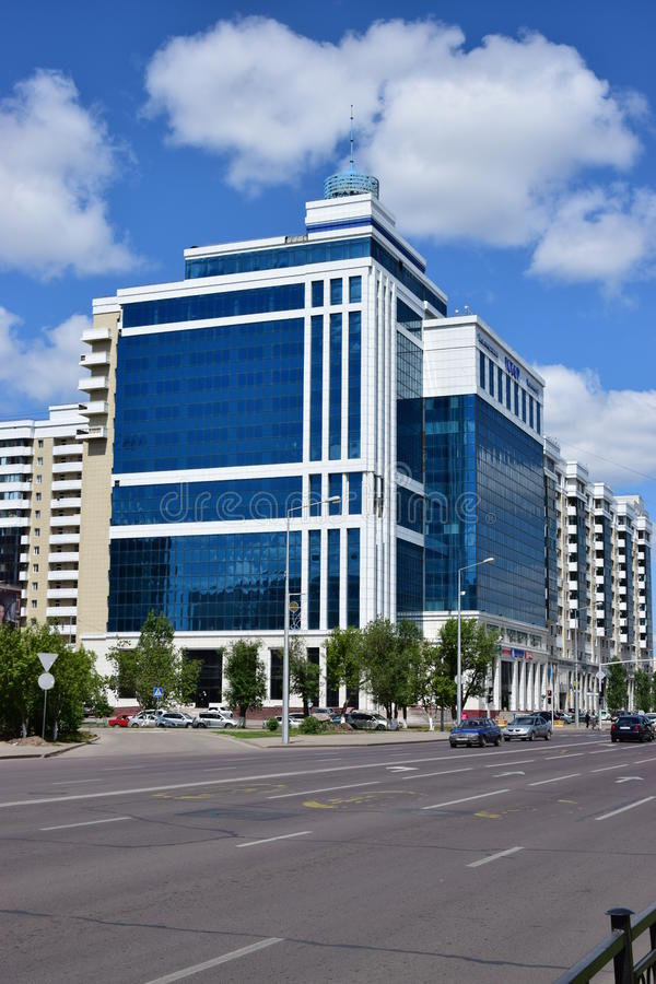Un centre moderne d'affaires à Astana images libres de droits