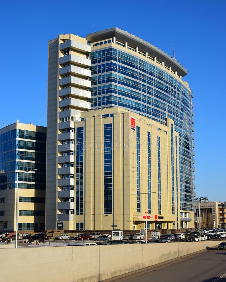 Un centre moderne d'affaires à Astana photo libre de droits