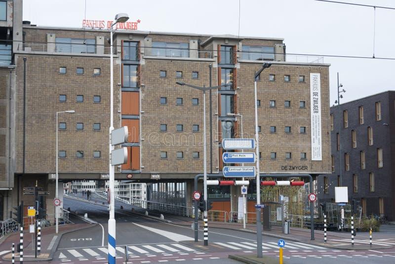 Un centro cultural PAKHUIS DE ZWIJGER, Amsterdam del sitio los Países Bajos foto de archivo