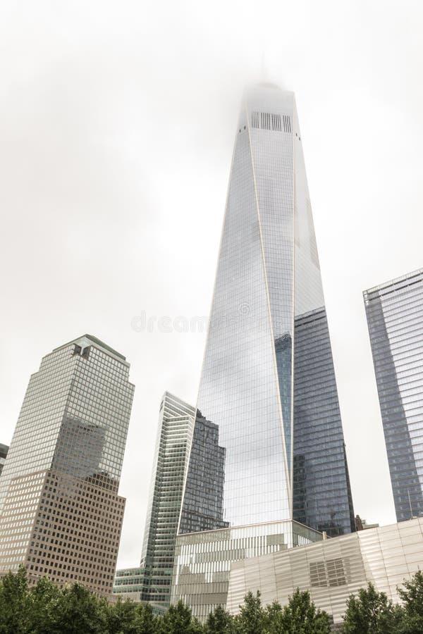 Un centro di commercio mondiale New York fotografie stock libere da diritti