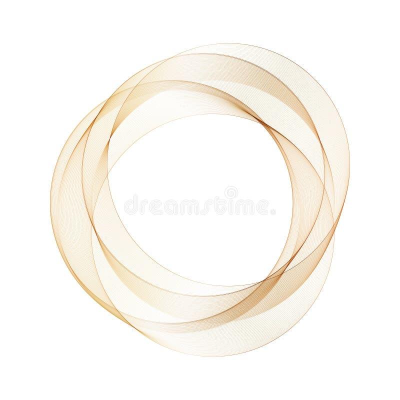 Un cercle d'or-brun illustration abstraite de vecteur Calibre pour annoncer ENV 10 illustration libre de droits