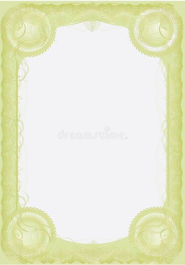 Un certificado de lujo. Sólido. Vector stock de ilustración