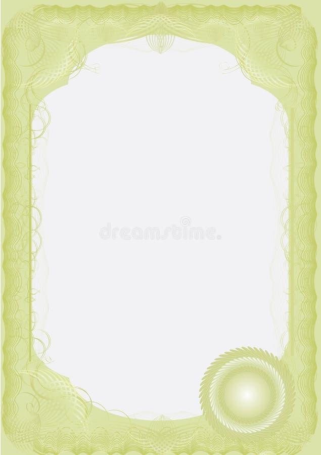 Un certificado de lujo. Sólido. Vector imagenes de archivo
