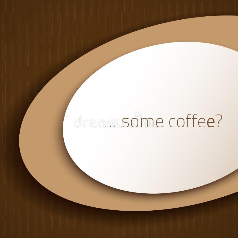 Un certo caffè illustrazione di stock
