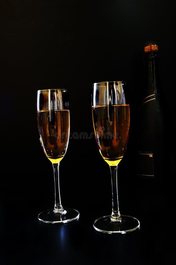 Un certo champagne immagine stock