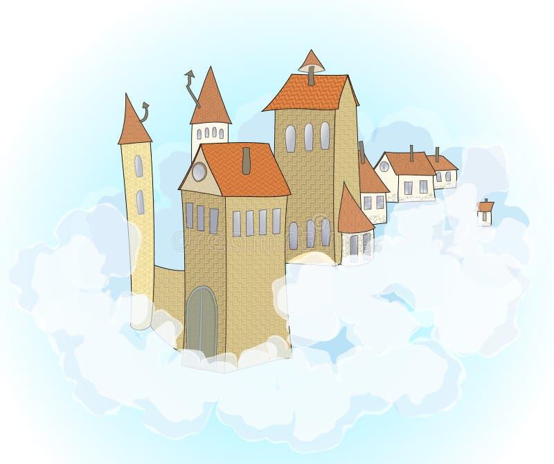 Un château dans le ciel illustration stock