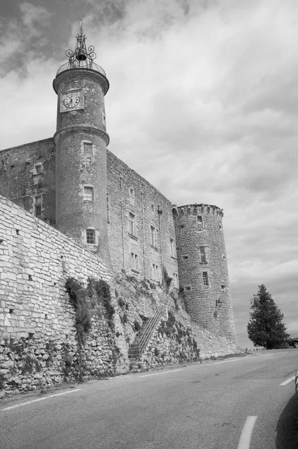 Un château dans les sud des Frances images libres de droits