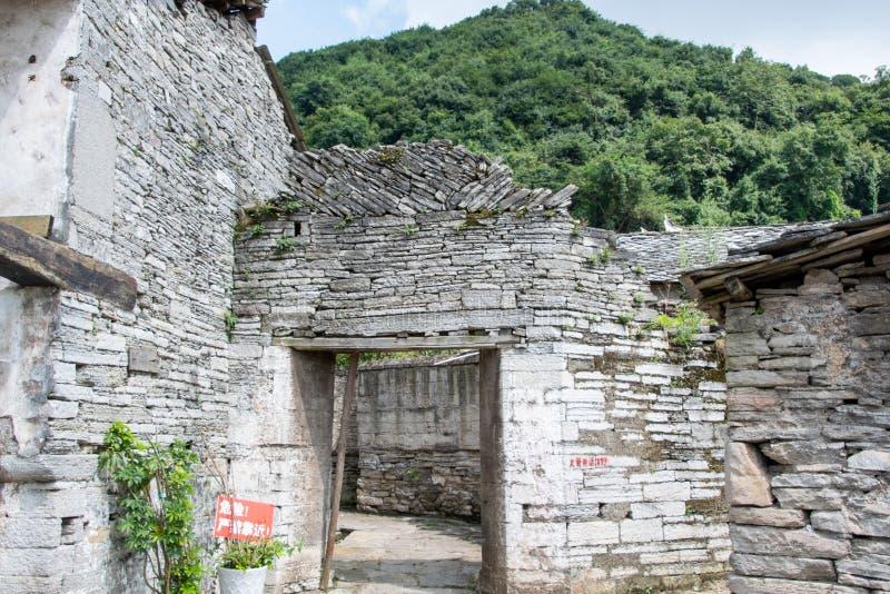 Un château en pierre qui a conservé la culture de la dynastie Ming il y a 600 ans images libres de droits