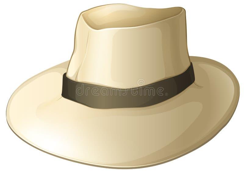 Un chapeau blanc illustration stock