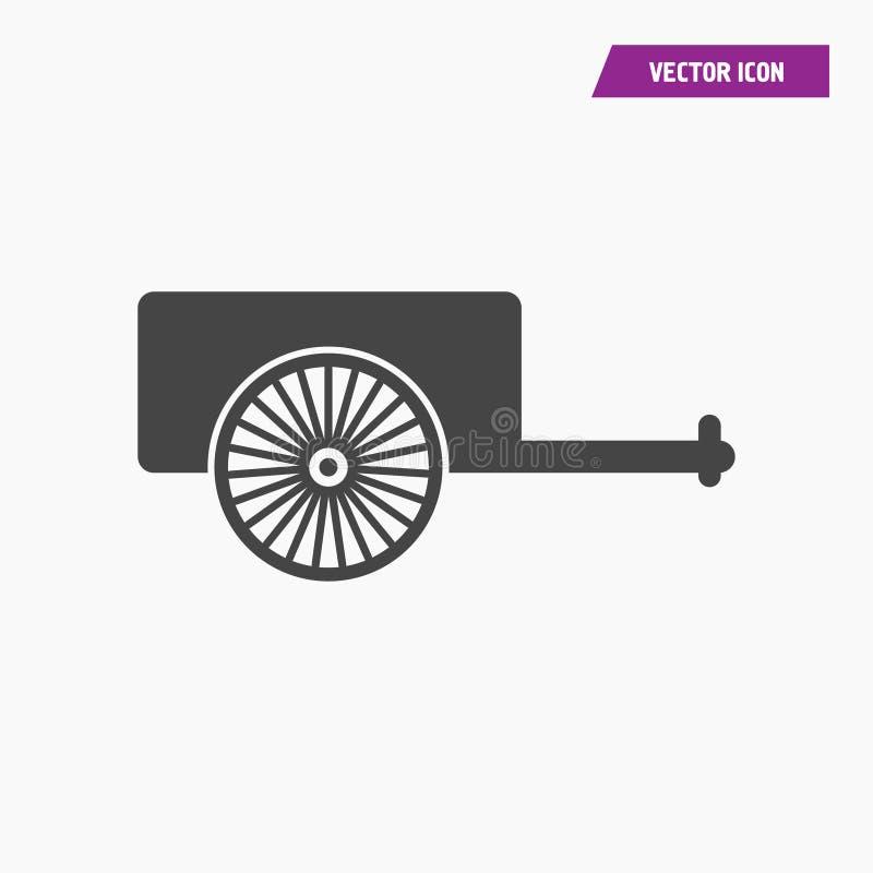 Un chariot pour l'icône de cheval illustration libre de droits