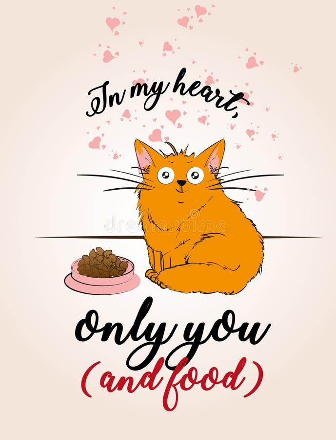 Un chat mignon de bande dessinée illustration libre de droits