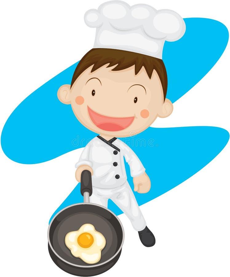 Un chef illustration stock