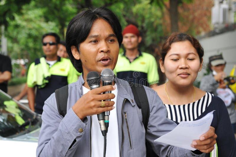 Protestation de travailleurs image libre de droits