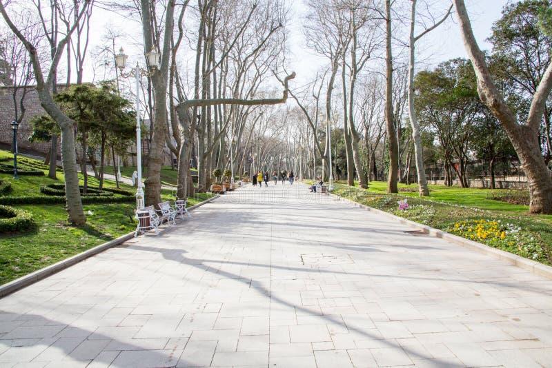 Un chemin de marche en parc image libre de droits