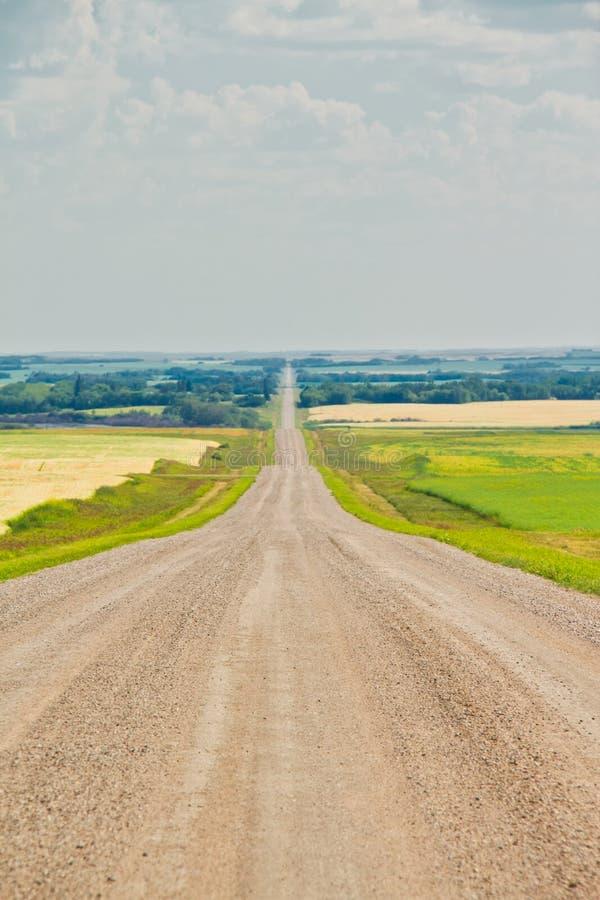 Un chemin de terre droit dans les plaines images libres de droits