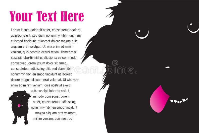 Un chien mignon maladroit avec de langue la conception de page  illustration stock