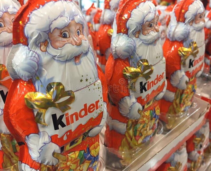 Un chocolat plus aimable Santa Claus images libres de droits
