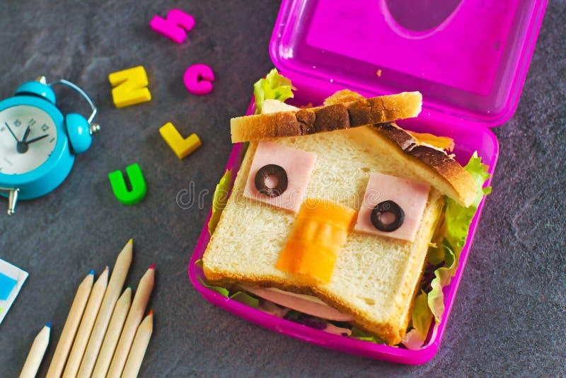 Un cibo divertente per bambini fotografie stock libere da diritti