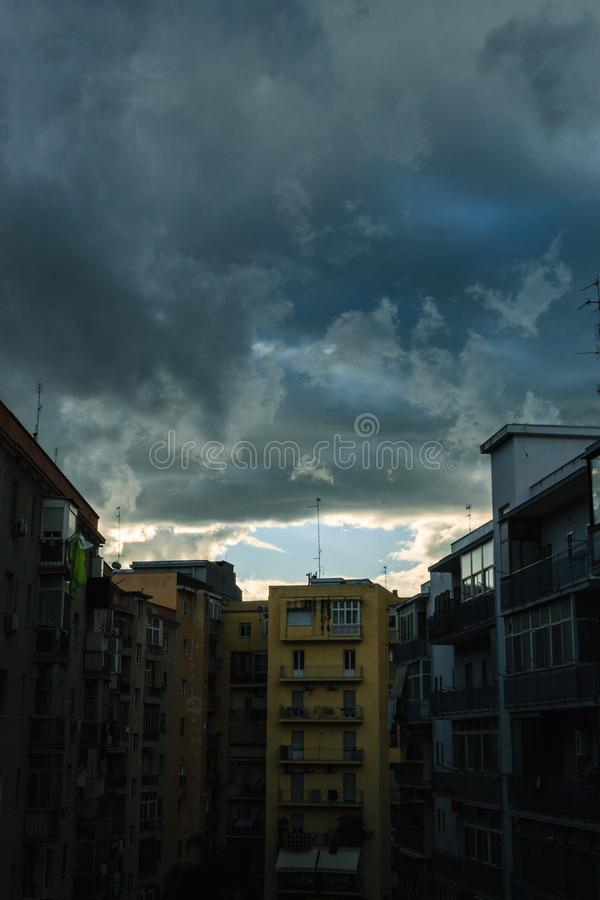 Un ciel gothique image libre de droits