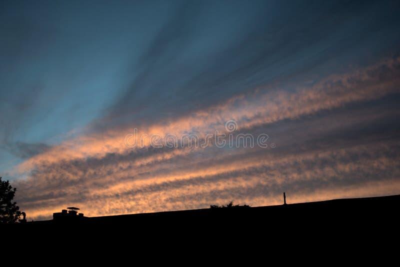 Un ciel rayé photographie stock