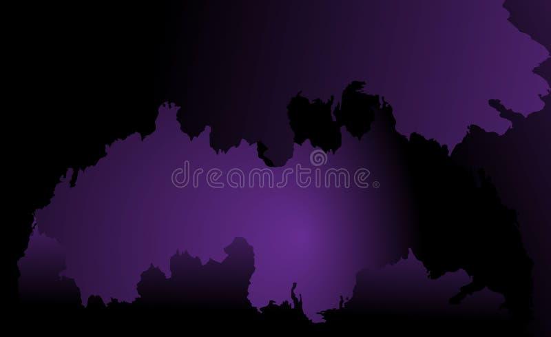 Un cielo bruciante porpora luminoso Fondo astratto sotto forma di mappa Spazio per scrittura e progettazione illustrazione vettoriale