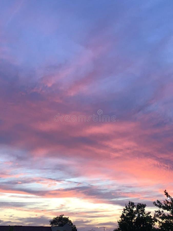 Un cielo de la tarde de Summer's foto de archivo