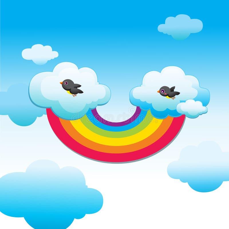 Un cielo divertente illustrazione di stock