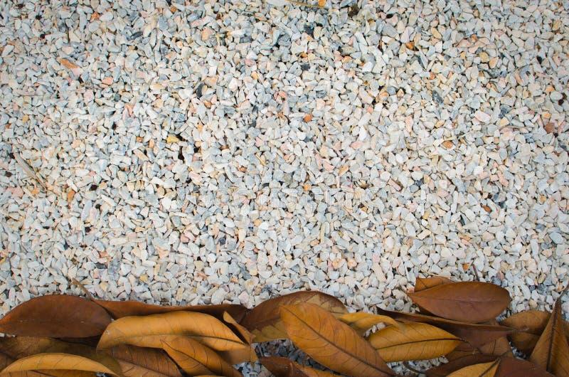 Un cierre para arriba de las rocas minúsculas, granito machacado, textura de la grava del guijarro stock de ilustración