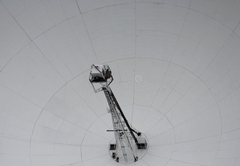 Un cierre para arriba de Lovell Telescope en el banco de Jodrell imagenes de archivo