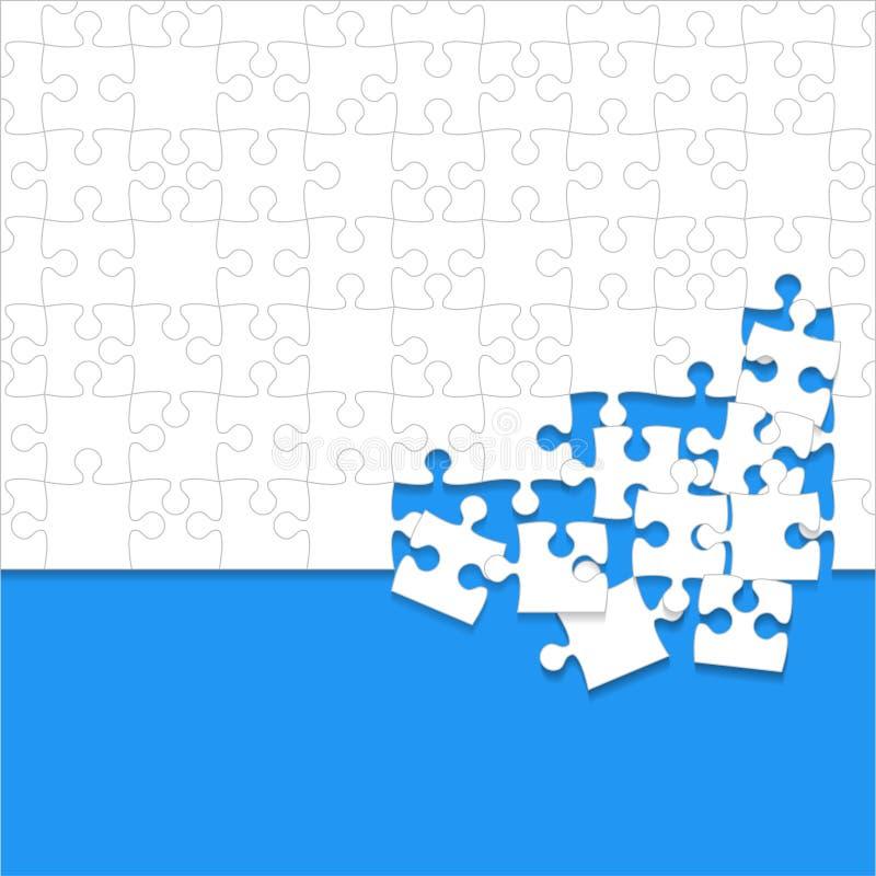 Un cierto blanco desconcierta el azul de los pedazos - rompecabezas del vector ilustración del vector