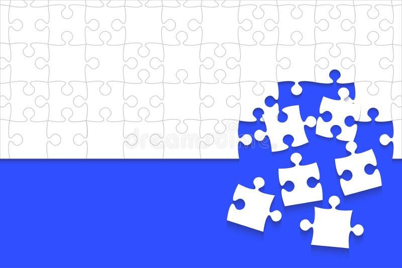 Un cierto blanco desconcierta el azul de los pedazos - rompecabezas del vector libre illustration